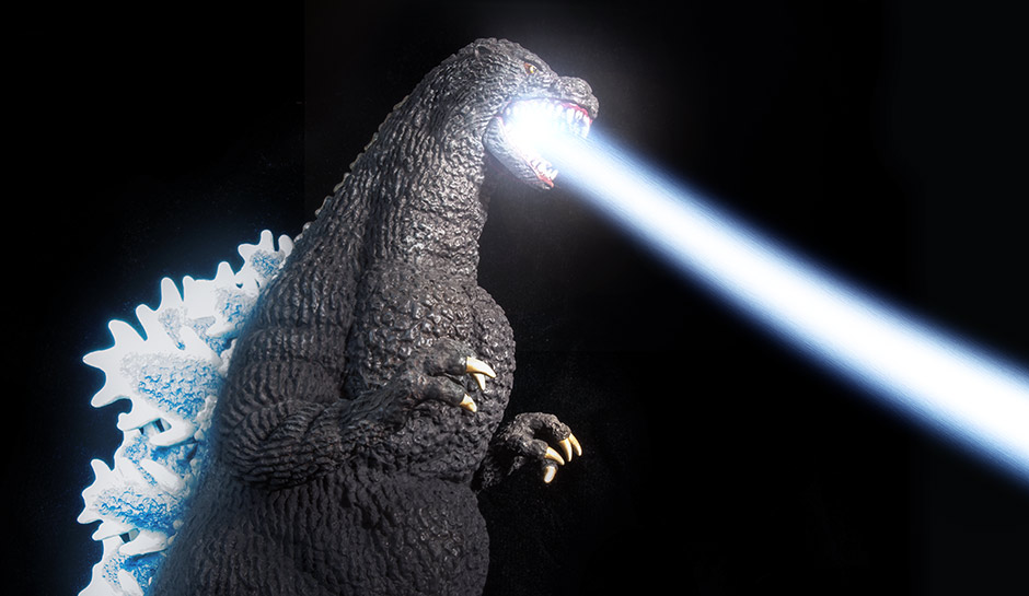 X-Plus Godzilla 1989 with Photoshop Atomic Breath.