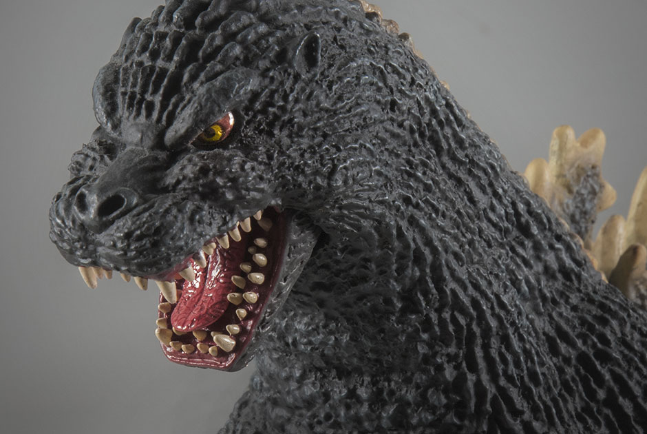 X-Plus Toho 30cm Series Godzilla 1989 vinyl figure - Head close-up.