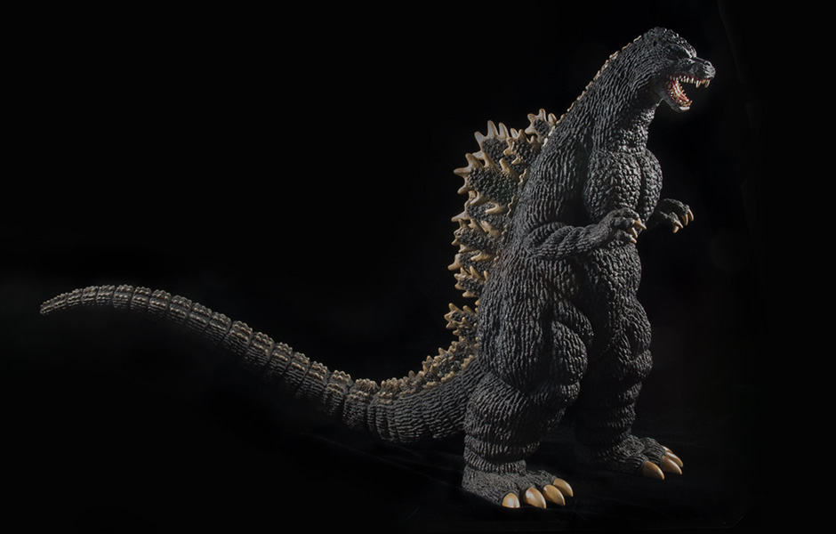 X-Plus 30cm Series Godzilla 1989 forward 3/4 angle.