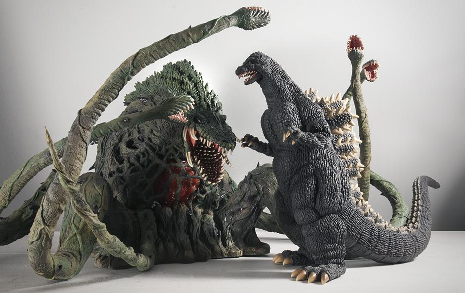 30cm Series Godzilla 1989 with Large Monster Series Biollante.