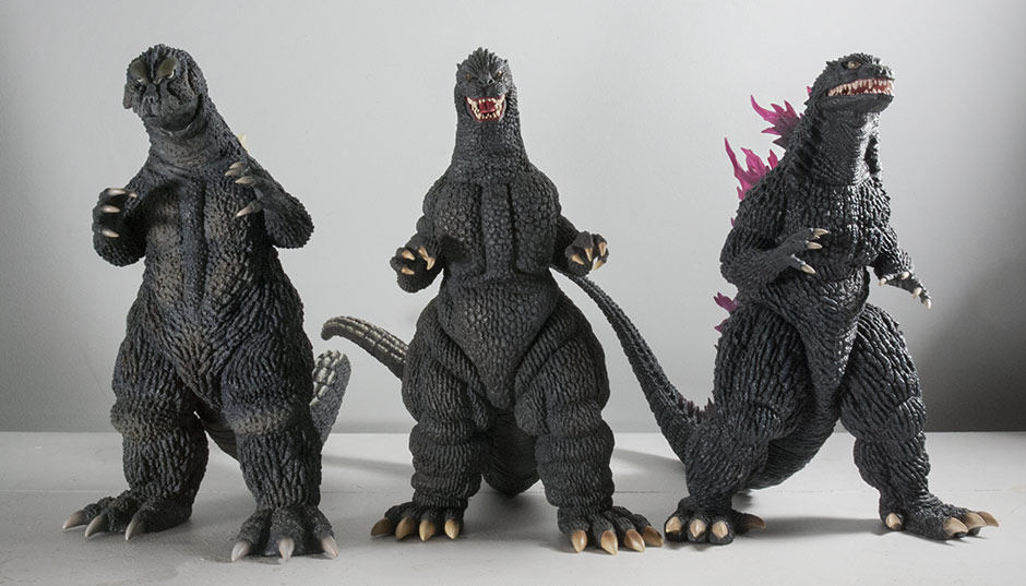30cm Godzilla 1989 with 1964 and 1999 figures.