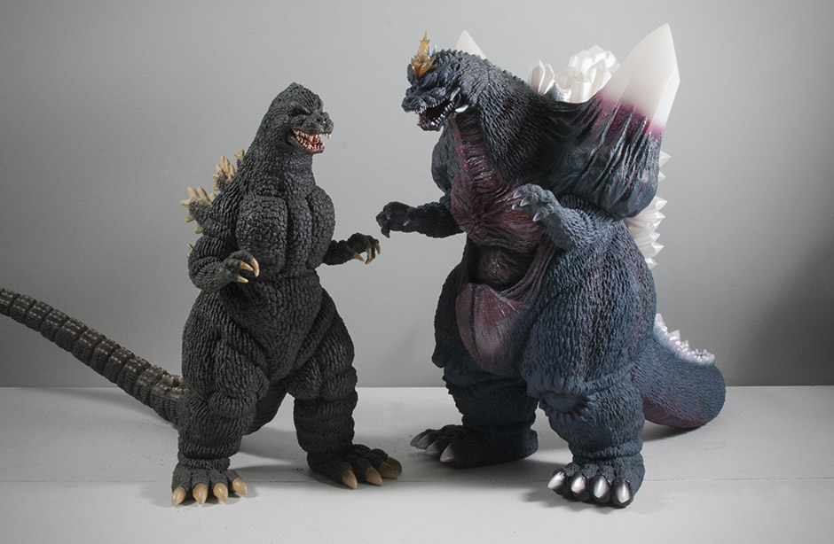 30cm Series Godzilla 1989 with 30cm Series Space Godzilla.
