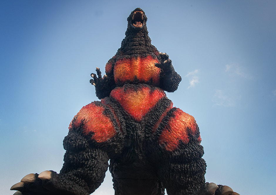 Worm's eye view of the Gigantic Series Gozilla 1995.
