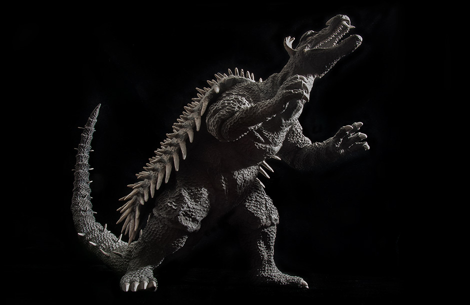 Anguirus 1955 - Low angle against black.