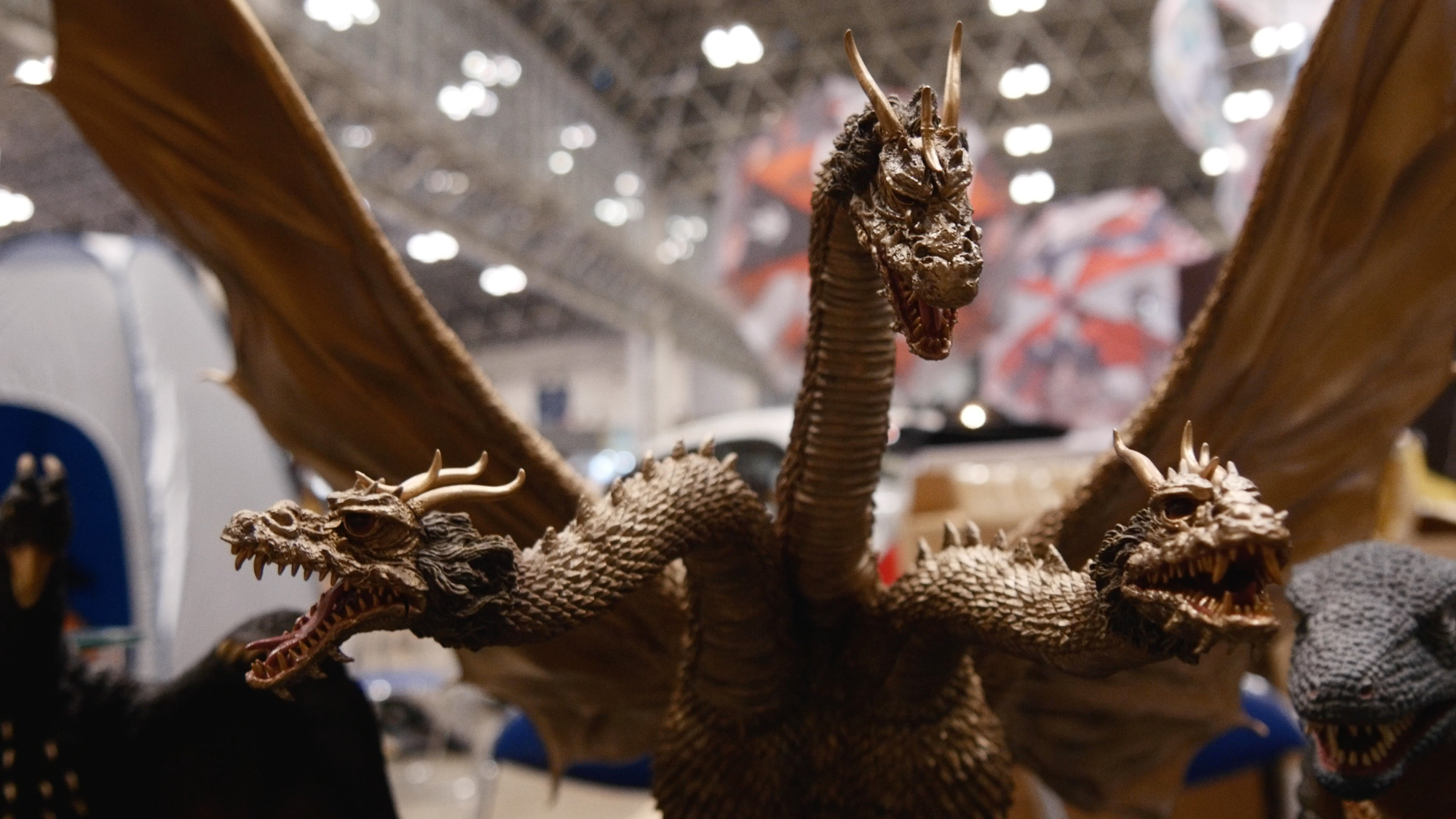 X-Plus Large Monster Series King Ghidorah vinyl figure at Summer Wonder Festival. Photo by SciFiJapan.com.
