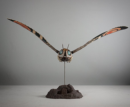 X-Plus Mothra Imago Front View.