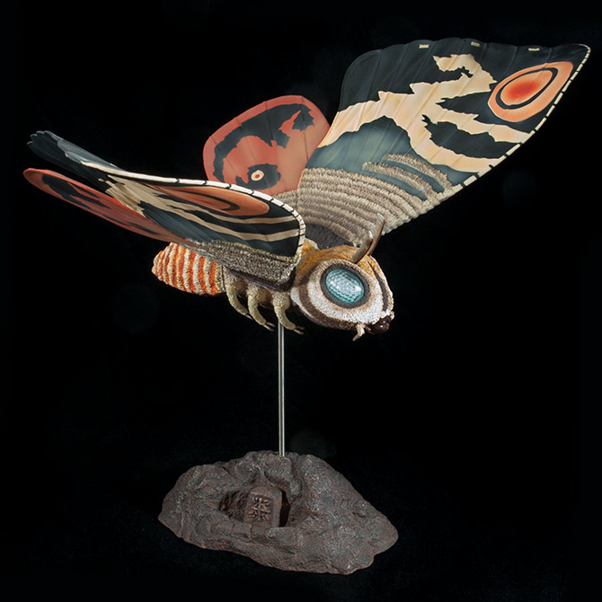 X-Plus Large Monster Series Mothra Imago 1961 Vinyl Figure Review.