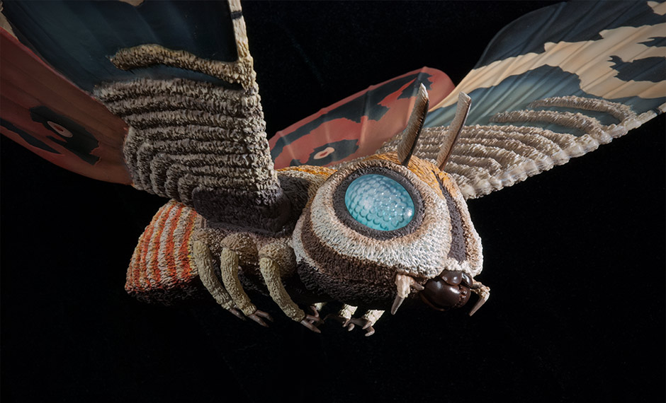 X-Plus Large Monster Series Mothra Imago 1961 Vinyl Figure.