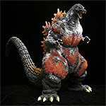 X-Plus Gigantic Series Godzilla 1995 Frozen Version vinyl figure.