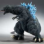 X-Plus Gigantic Series Godzilla 2001 Blue Dorsal Fin Version vinyl figure.