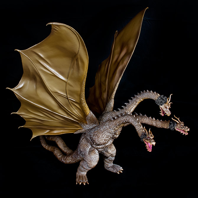 X-Plus Toho Large Monster Series King Ghidorah vinyl figure.