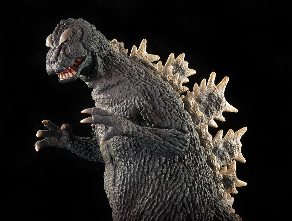 X-Plus 25cm Godzilla 1964 sculpt against black.