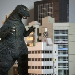 Another shot of the 25cm Godzilla 1964 with n-scale buildings.