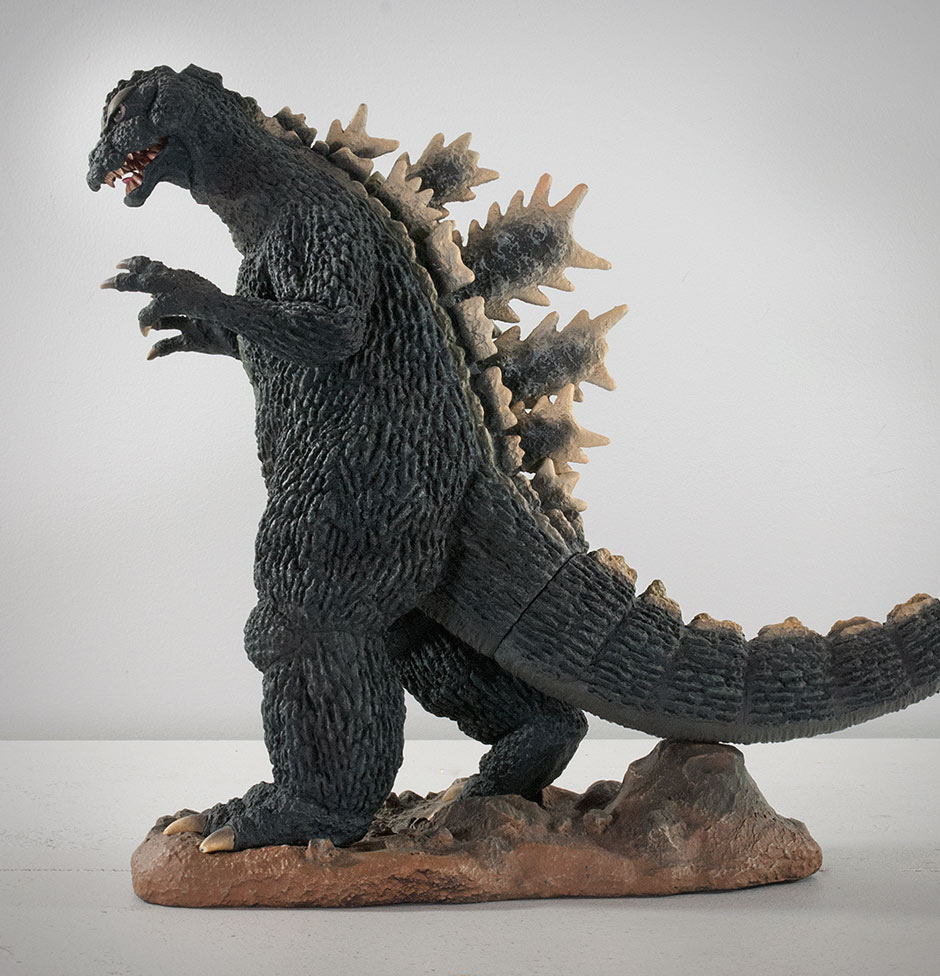 Side Profile of the X-Plus Godzilla 1964 vinyl figure.