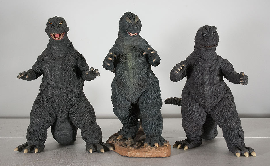 Size comparison between X-Plus Godzilla 1964 and the '66 and '68.