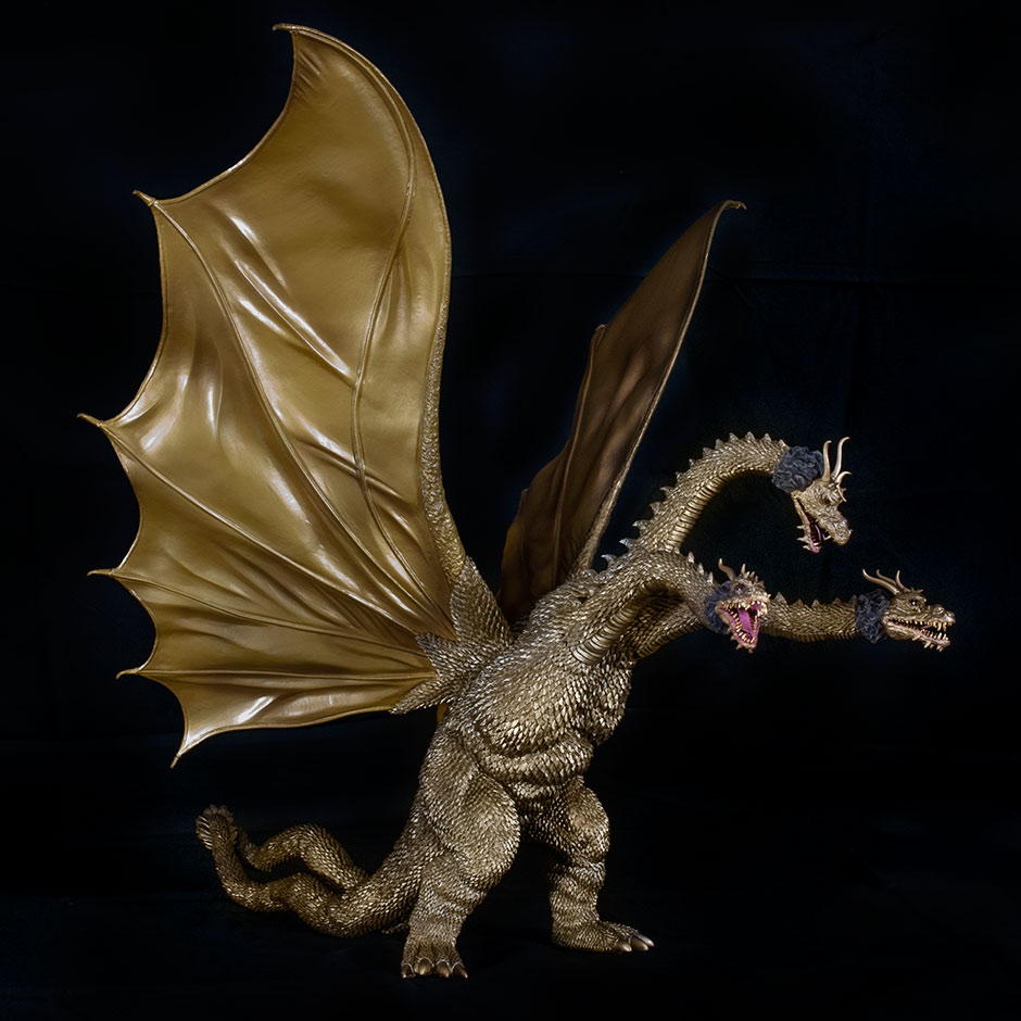 X-Plus King Ghidorah on an angle.