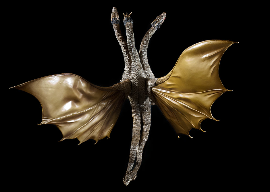 X-Plus King Ghidorah 1968 - Top View.