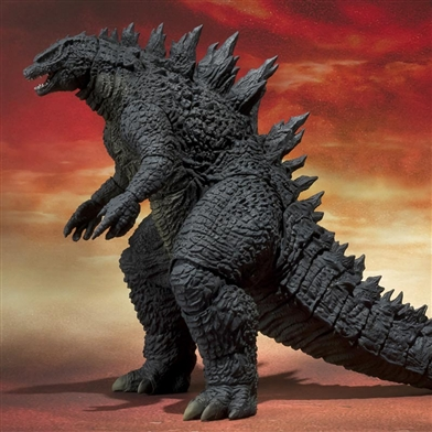 S.H. MonsterArts Godzilla 2014 articulated figure.