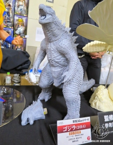 The X-Plus Godzilla 2014 Vinyl Figure Prototype on display at Super Festival 67.