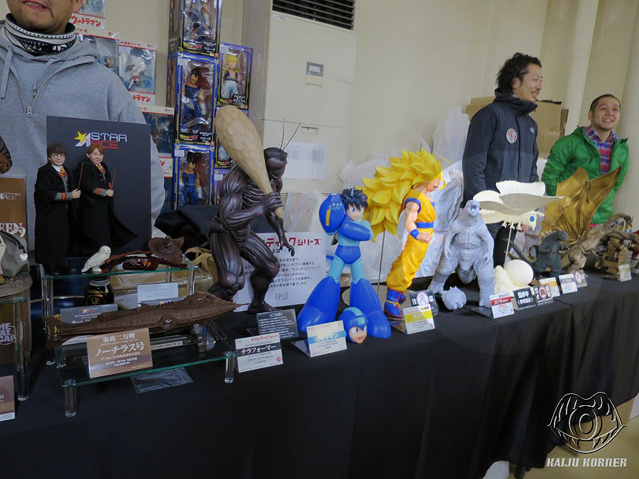 The X-Plus table at Super Festival 67 with Godzilla 2014 and Mothra 1964.
