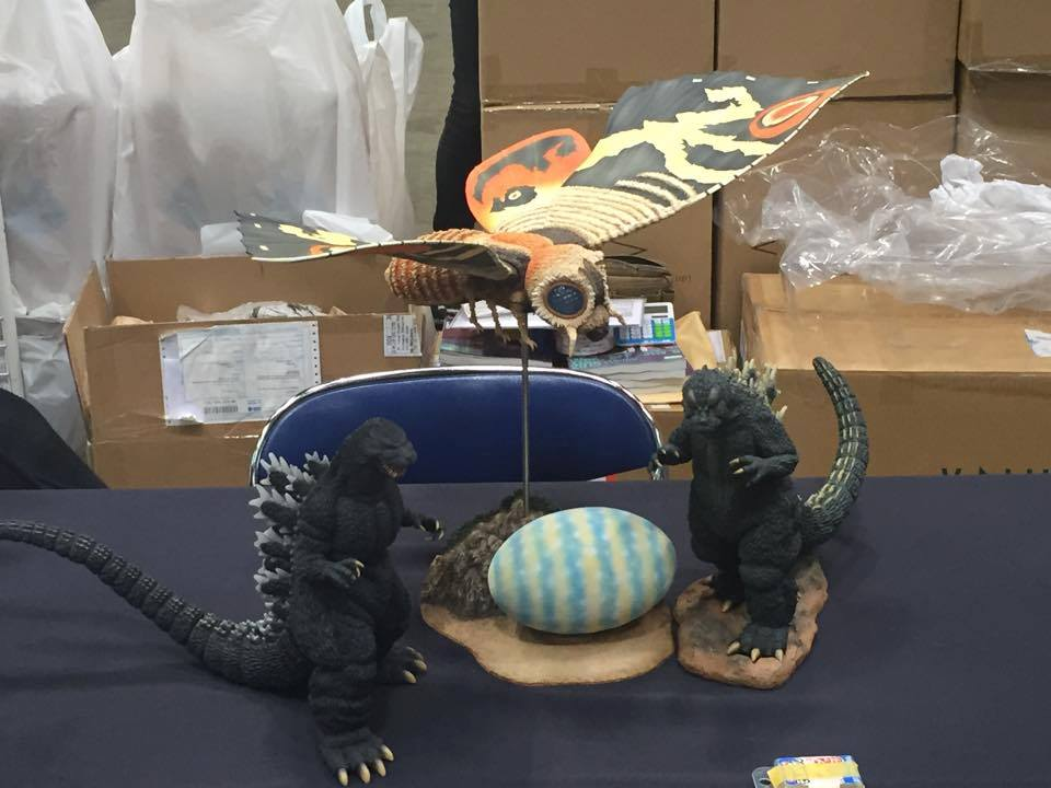 Large Monster Series Mothra Imago 1964, Godzilla 1964 and 1989 at Winter Wonder Festival.