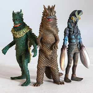 The Kaiju Museum Figurine Line by X-Plus.