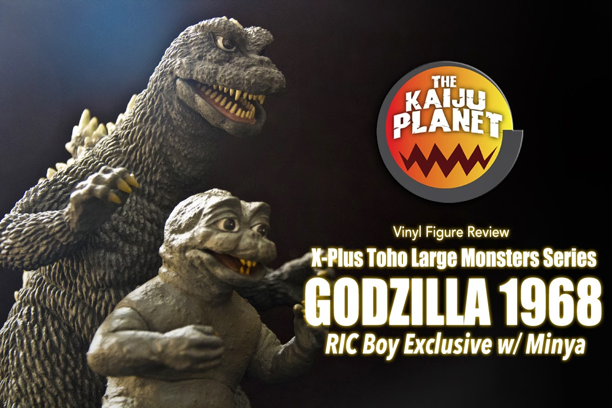 The Kaiju Planet Reviews the X-Plus 25cm Godzilla and Minya 1968 vinyl figures.