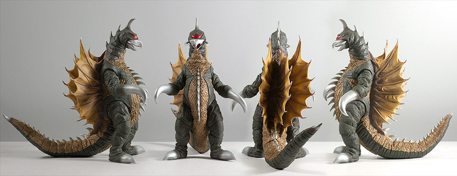 Toho 30cm Series Gigan 1972 Vinyl Figure by X-Plus from all angles..