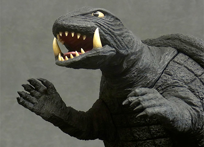 Daiei Large Monster Series Gamera 1971 vinyl figure.