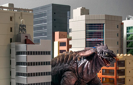Creating Stomping Grounds for X-Plus with N-Scale Buildings