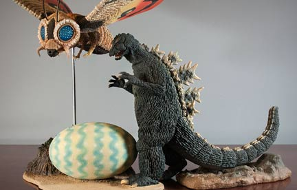 Combining an Original 25cm Godzilla 1964 with the new Mothra 1964