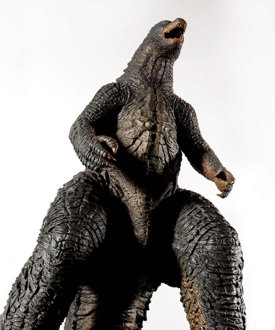 Toho 30cm Series Godzilla 2014 low angle shot.
