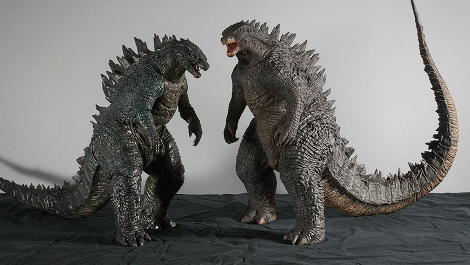 Size comparison between X-Plus Godzilla 2014 and NECA's version.