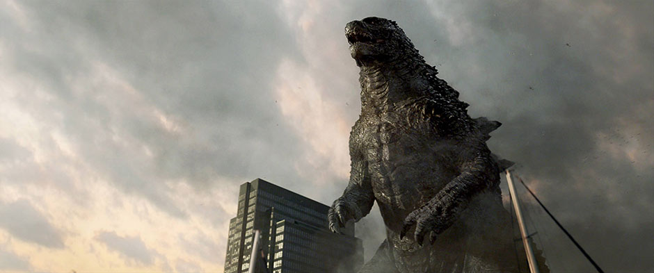Another scene featuring Godzilla from the film.