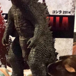 Photo of the new X-Plus Godzilla 2014 beside Sara DeJaneiro's guinea pig. Did I spell guinea right?
