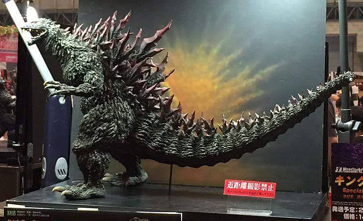 The Gigantic Series Godzilla 2000 on display at Yuji Sakai's table at Summer Wonder Festival 2015.