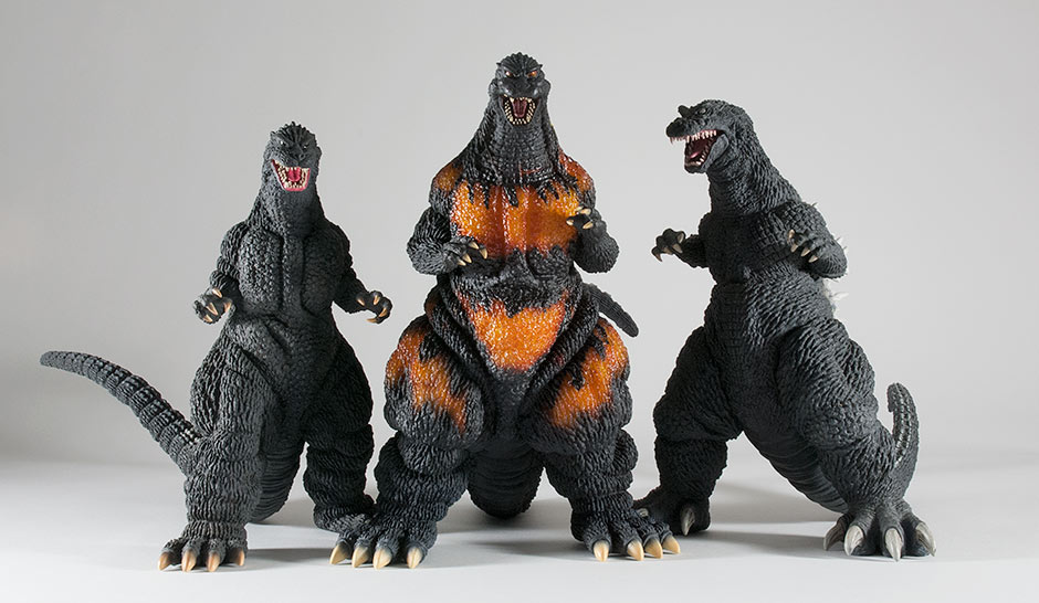 Size comparison with the Large Monster Series Godzilla 1989 and 2001.
