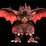 Toho Large Monster Series Destoroyah Vinyl figure by X-Plus. Close up of the head. Full front shot.