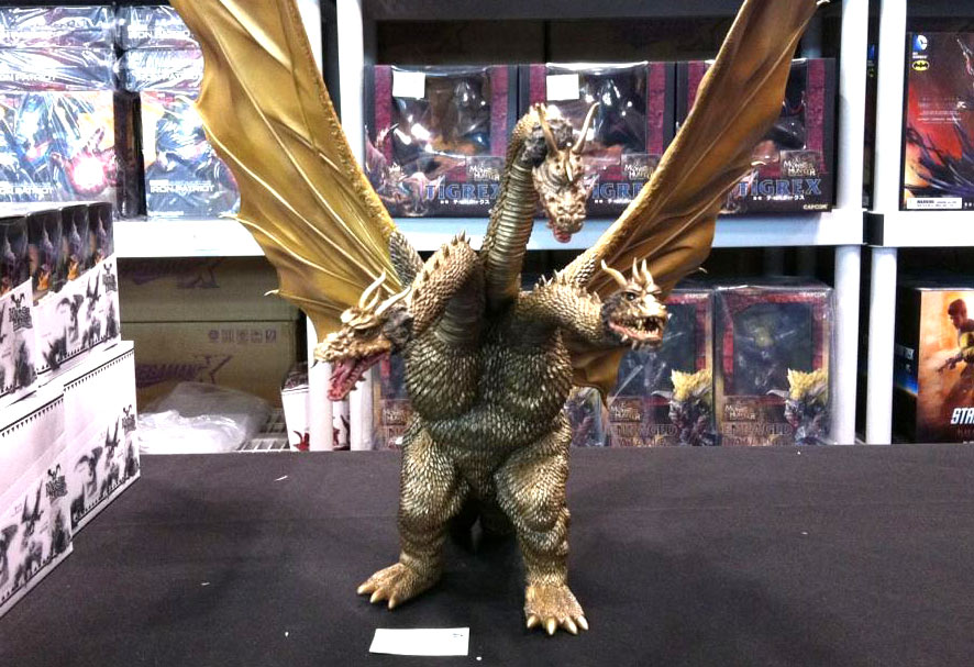 X-Plus King Ghidorah vinyl figure at Bluefin's booth at NYCC, October 2015.