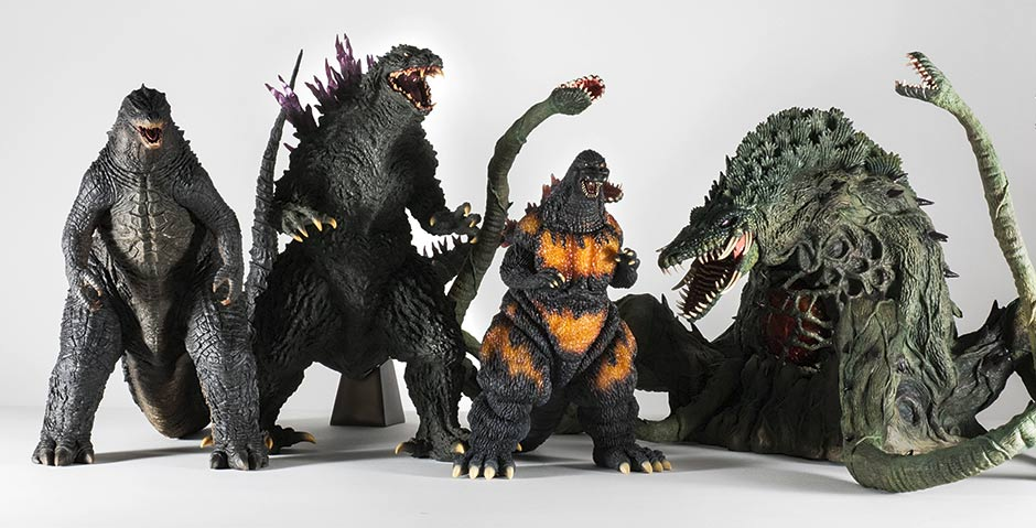 Gigantic Series Godzilla 2000 size comparison with other recent X-Plus releases.
