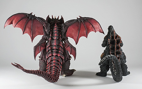 Rear View size comparison with Destoroyah.