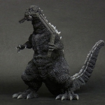"Toho 30cm Series Godzilla 1954 ""Train Biter"" Monochrome Version vinyl figure."