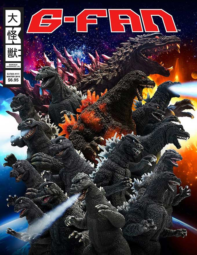 The cover of issue #111 of G-Fan featuring X-Plus and work by John Ruffin.