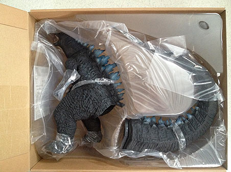X-Plus Godzilla 2014 interior packaging.