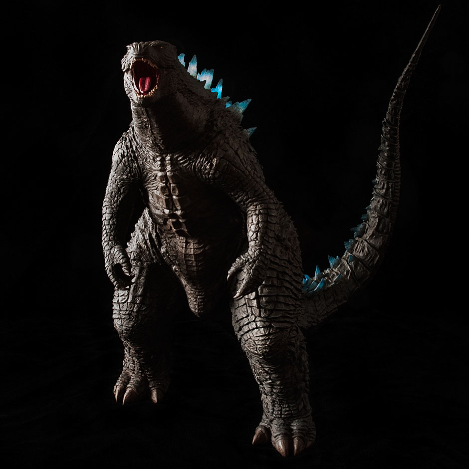 Toho 30cm Series Godzilla 2014 Roaring Pose figure in full Roar.