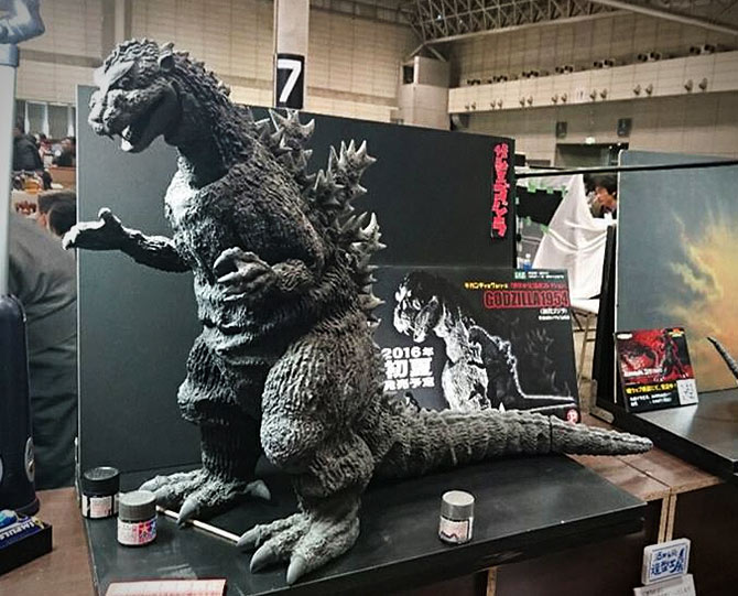 Gigantic Series Godzilla 1954 on display at Wonder Festival.