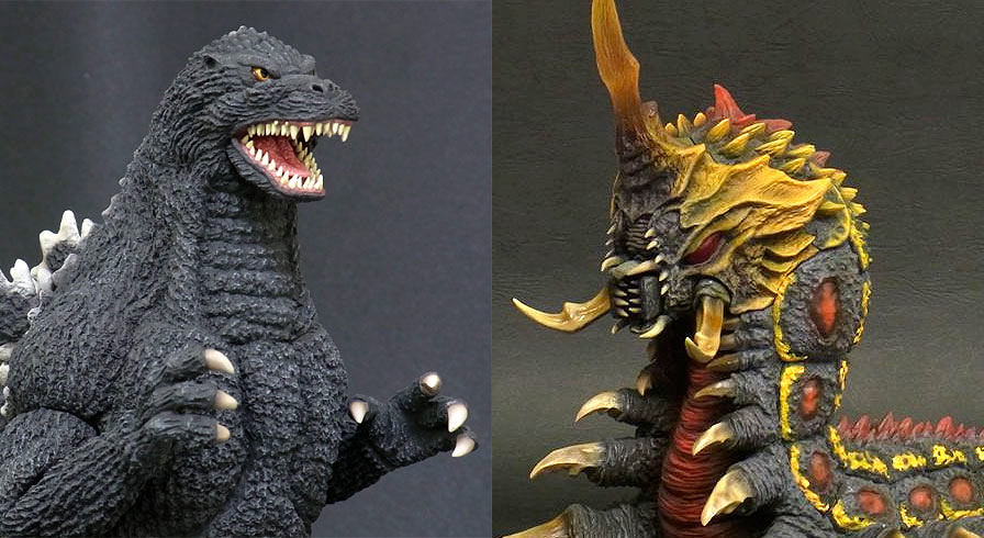 X-Plus Godzilla 1992 and Battra.