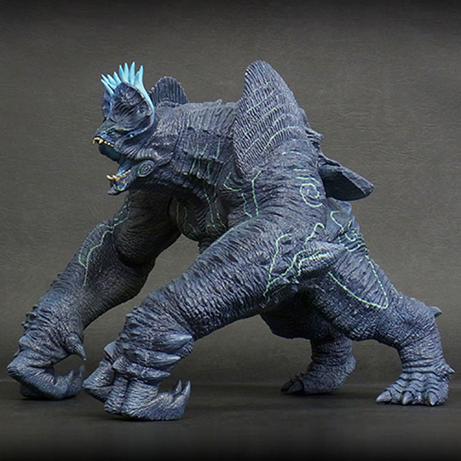 Large Monster Series Pacific Rim Leatherback vinyl figure.