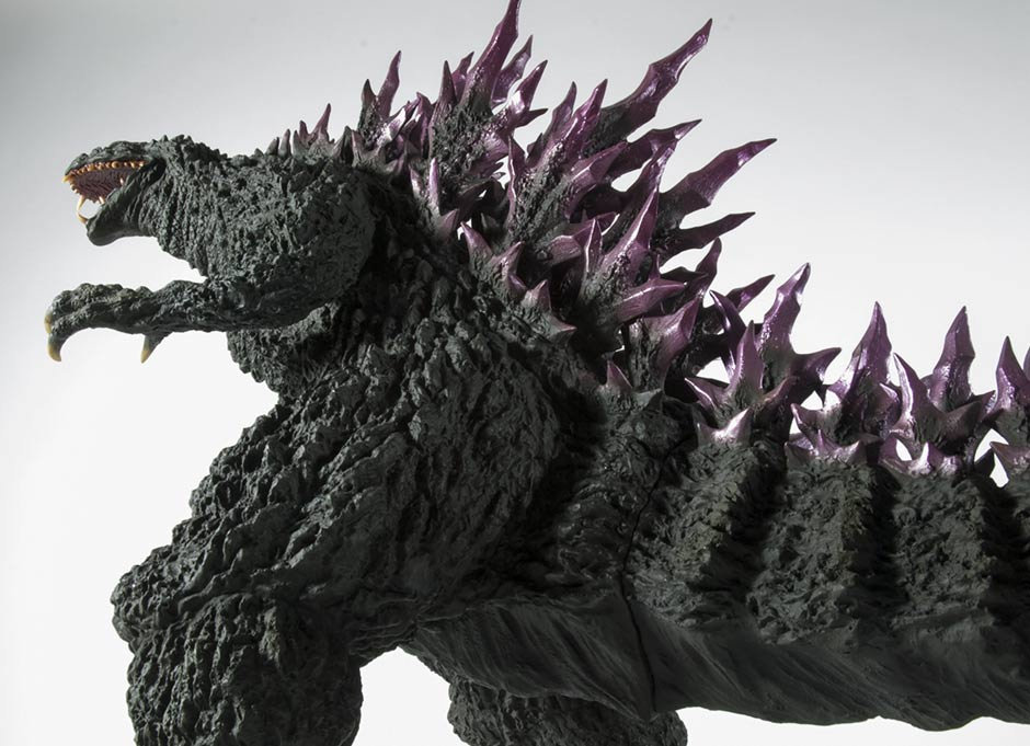 A low angle of the Gigantic Series Godzilla 2000.