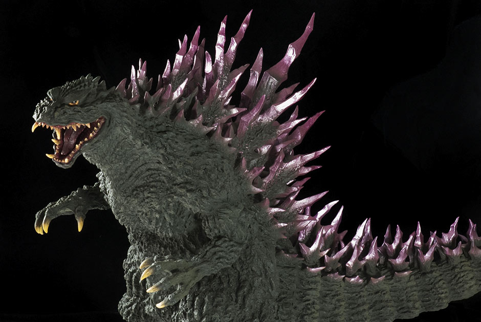 Gigantic Series Godzilla 1999 vinyl figure - grays, greens and purples.